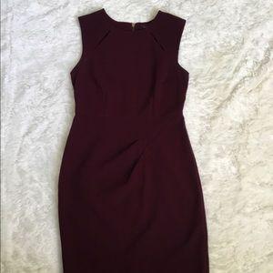 The Limited Burgundy sheath dress sz4
